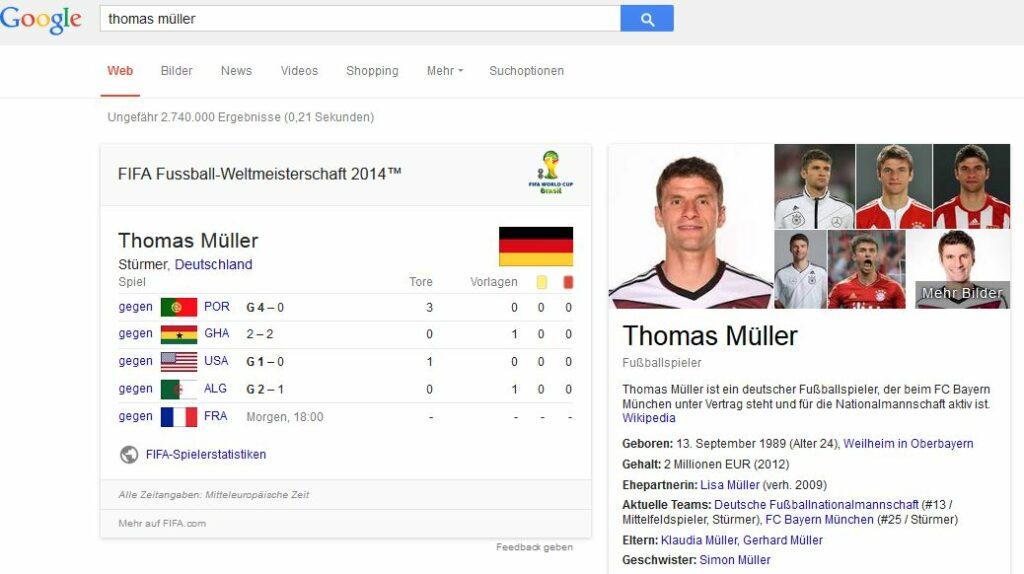 Google Thomas Müller
