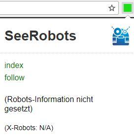 Seerobots Anzeige